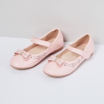 MAX Laser Cut Mary Janes with Bow