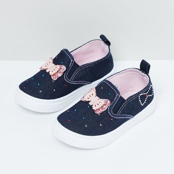 MAX Bow Detailed Slip-On Shoes