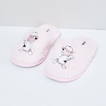 MAX Appliqued Slip-On House Slippers