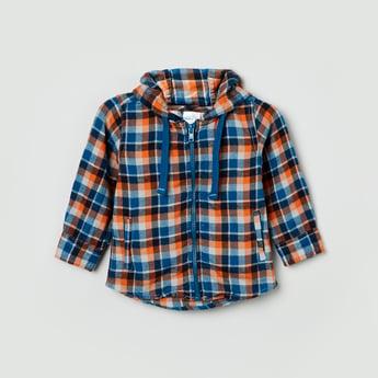 MAX Checked Hooded Shirt