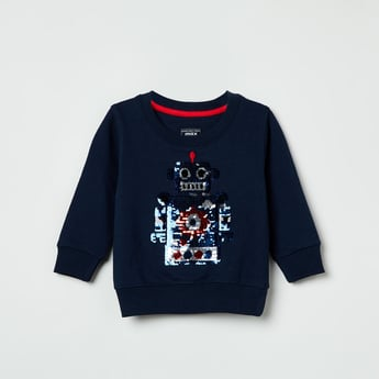 MAX Sequin Embellished Full Sleeves Sweatshirt