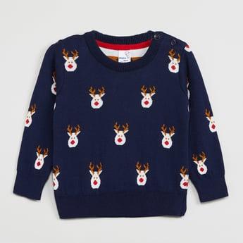MAX Printed Full Sleeves Sweater