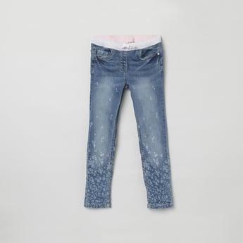 MAX Printed Elasticated Jeans