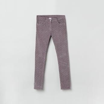 MAX Printed Slim Fit Corduroy Trousers