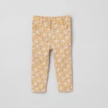 MAX Floral Print Slim Fit Trousers