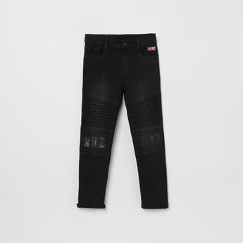 MAX Printed Jeans with Pleats