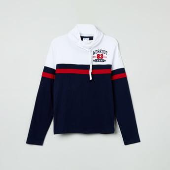 MAX Colourblocked Cowl Neck Sweatshirt