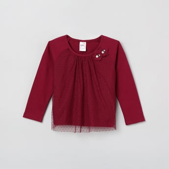 MAX Embellished Layered Lace Top