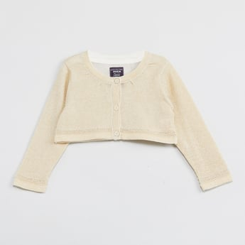 MAX Solid Lurex Knitted Shrug