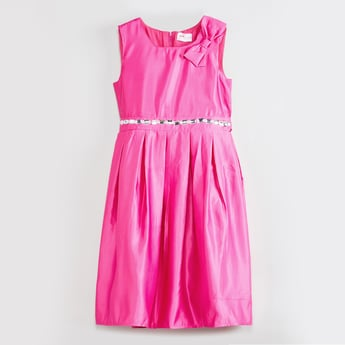 MAX Sleeveless Fit & Flare Dress with Bow