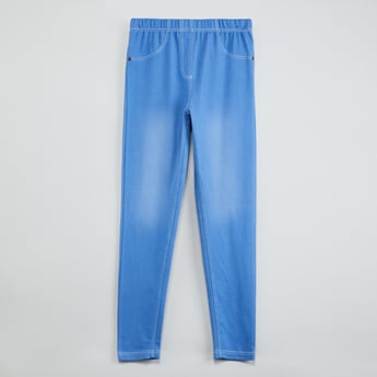 MAX Washed Jeggings with Pocket