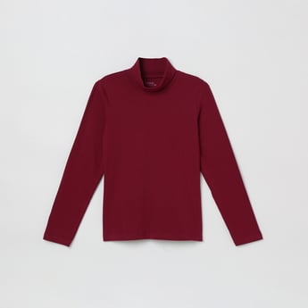 MAX Solid Turtle Neck Top