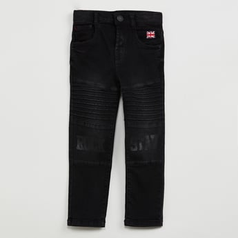 MAX Stonewashed Jeans with Printed Front