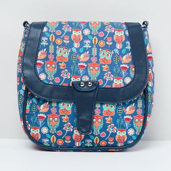 MAX Printed Flap-Closure Sling Bag