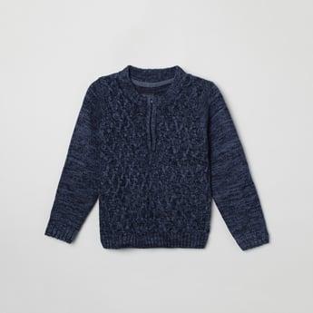 MAX Textured Crew Neck Sweater