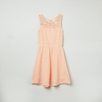 MAX Lace Detailed Fit-and-Flare Dress