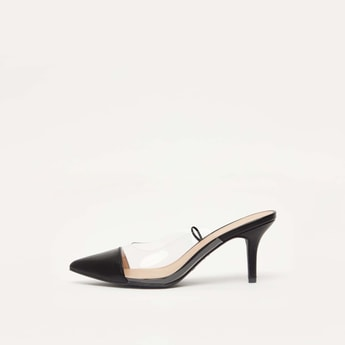 Solid Mules with Kitten Heels