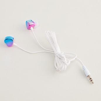 Heart Shaped Earphones with Glitter Detail