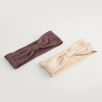 ربطة شعر بتفاصيل عقدة - طقم من قطعتين