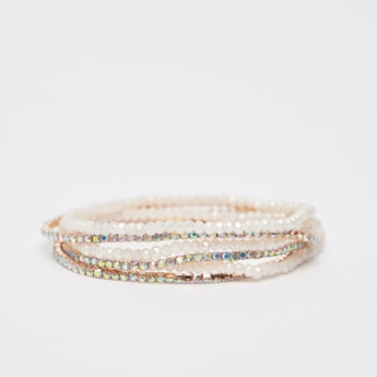 Set of 6 - Embellished Bracelets