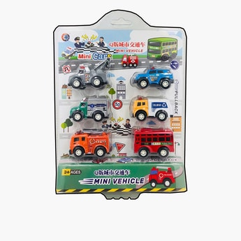 6-Piece Assorted Mini Vehicles Set
