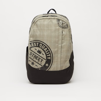Printed Backpack with Adjustable Shoulder Straps - 17.50 Inches