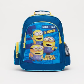 Minions Print Backpack with Adjustable Shoulder Straps - 14 Inches