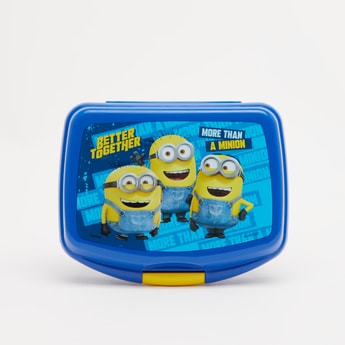 Minions Print Lunchbox with Clip-On Closure
