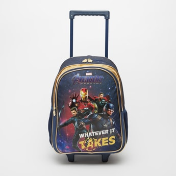 Avengers Print Trolley Backpack with Retractable Handle - 16 Inches