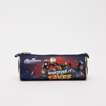 Avengers Print Pencil Case with Zip Closure