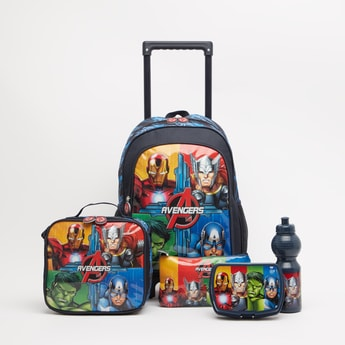 Avengers Print 5-Piece Trolley Backpack Set - 16 Inches