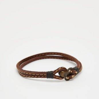 Solid Multilayer Bracelet with Foldover Clasp