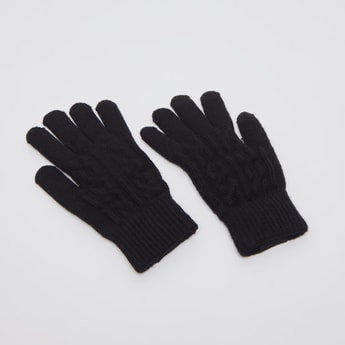 Textured Knitted Gloves