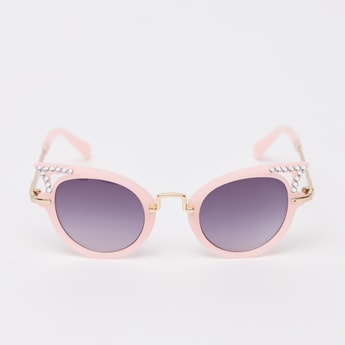 Stud Detail Sunglasses with Nose Pads
