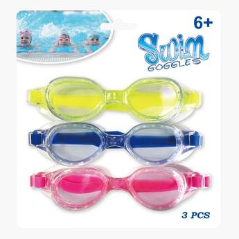 طقم نظّارات سباحة متنوّعة - 3 قطع