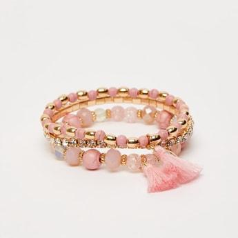 Set of 3 - Assorted Embellished Bracelets