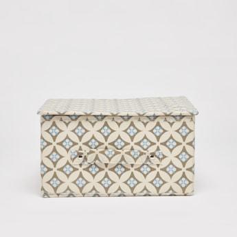 صندوق تخزين بطبعات ومقبض- 33x28x15 سم