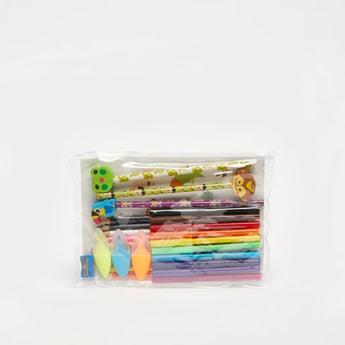 مجموعة تلوين مع أقلام  رصاص و ملصقات