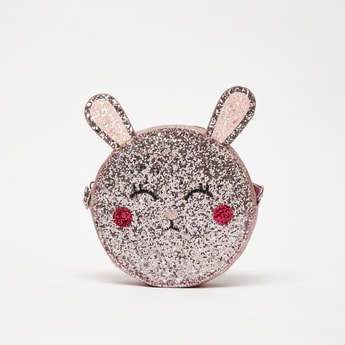 Sequin Embellished Bunny Shaped Crossbody Bag