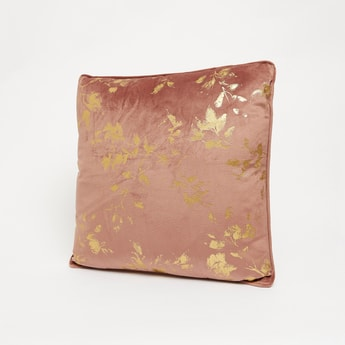 Foil Print Filled Cushion - 45x45 cms