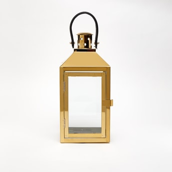 Solid Decorative Lantern Candle Holder with Handle