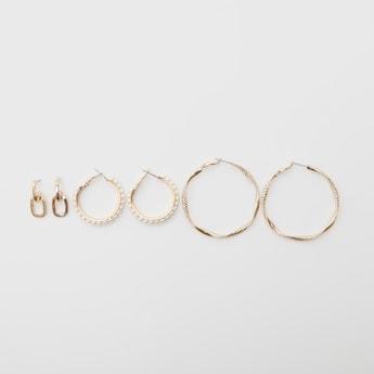 Set of 3 - Assorted Metallic Earrings