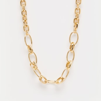Gilded Chain-Link Short Necklace
