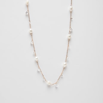 Embellished Detail Necklace with Lobster Clasp