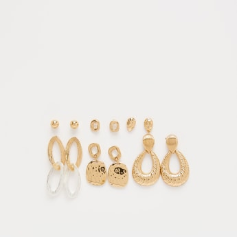 Set of 6 - Assorted Earrings with Push Back Closure