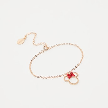 Stone Studded Minnie Mouse Bracelet