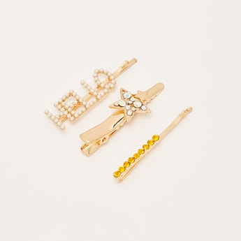 Set of 3 - Assorted Embellished Hairpins