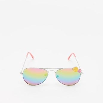 نظارة شمسية بلون قوس قزح مع رموز تعبيرية مبتسمة