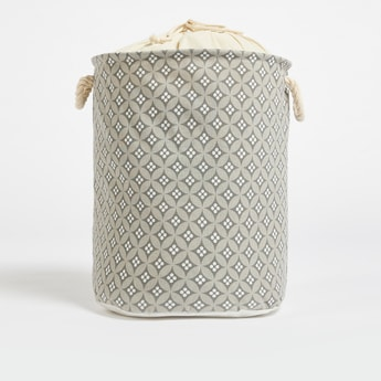 All-Over Print Laundry Hamper with Drawstring Closure - 49x38 cms