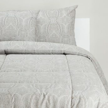 Printed 3-Piece King Comforter Set - 230x220 cms